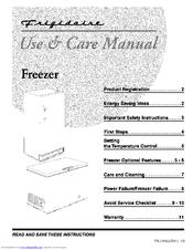 Frigidaire FFU20FC6AW2 Manuals