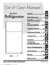 Frigidaire FRT21FG4CW0 Manuals
