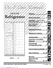 Frigidaire FRS26H5ASB4 Manuals
