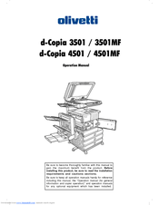 Olivetti d-Copia 4501 Manuals