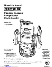 Craftsman 315.268350 Manuals