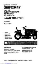 Craftsman 917.271022 Manuals