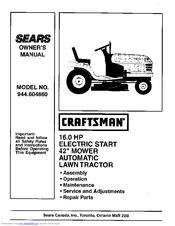 Craftsman 944.604860 Manuals