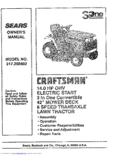 Craftsman 917.255692 Manuals