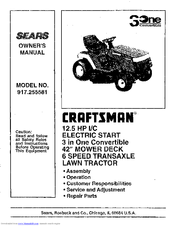 Craftsman 917.255581 Manuals