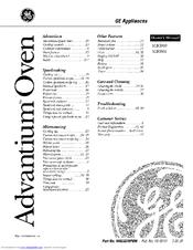 Ge Advantium SCB2001 Series Manuals