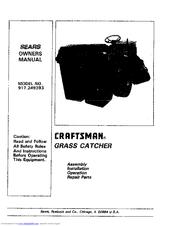 Craftsman 917.249393 Manuals