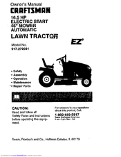 Craftsman EZ3 917.272021 Manuals