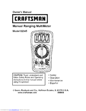 Craftsman 82345 Manuals