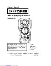 Bestseller: Craftsman Multimeter 82345 Manual