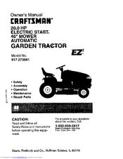 Craftsman EZ3 917.273041 Manuals