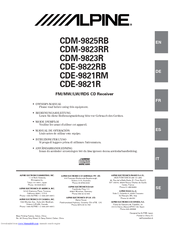 Alpine CDE-9821R Manuals