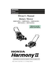 Honda HRR216SDA Harmony II Manuals