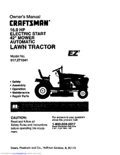 Craftsman 917.271041 Manuals