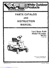 White Yard Boss R84 994-376 Manuals