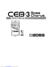 Boss CEB-3 Bass Chorus Manuals