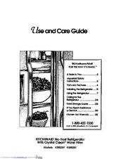 Kitchenaid KSRB25F Manuals