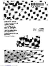 Hitachi AX-M7E Manuals