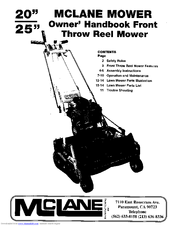 Mclane Throw Reel Mower Manuals