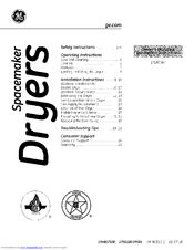 Ge Spacemaker DSXH47 Manuals