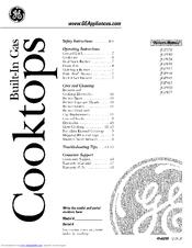 Ge JGP963 Manuals