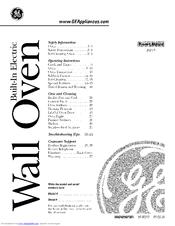 Ge JRP15 Manuals