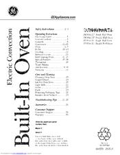 Ge Profile PT956 Manuals