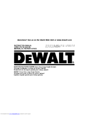 Dewalt D28494 Manuals