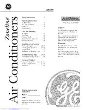 Ge AZ58H15DACM1 and Manuals