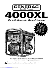 Generac Portable Products 4000XL 9777-2 Manuals