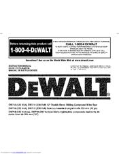 Dewalt DW718 Manuals