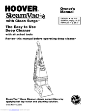 Hoover 12 Steamvac Spinscrub Carpet Cleaner Manual
