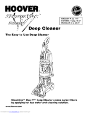Hoover SteamVac Dual V Manuals