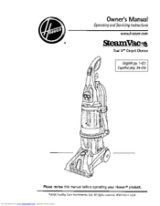 Hoover SteamVac F7412-900 Manuals