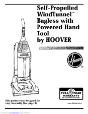 Hoover Self-Propelled WindTunnel Cleaner Manuals