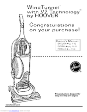 Hoover Commercial WindTunnel Manuals