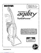 Hoover SteamVac aqility turbopower Manuals
