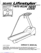 Lifestyler Auto incline 2800 Manuals