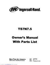 Ingersoll-rand TS7N7.5 Manuals