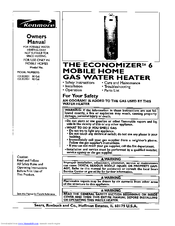 Kenmore THE ECONOMIZER 6 Manuals