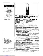 Kenmore THE ECONOMIZER 6 Manuals