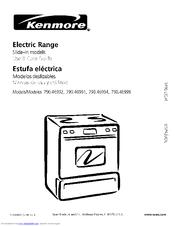 Kenmore 790.46999 Manuals
