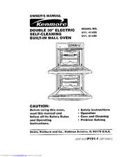 Kenmore 911.41185 Manuals