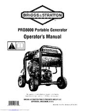 Briggs & Stratton PRO8000 Manuals