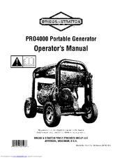 Briggs & Stratton PRO4000 Manuals
