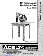 Delta 10 Radial Arm Saw Manual