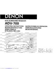 Denon ADV-700 Manuals