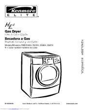 Kenmore ELITE HE4 110.9586 Series Manuals