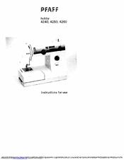 Pfaff hobby 4250 Manuals