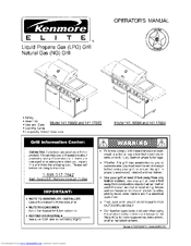 Kenmore ELITE 141.166821 Manuals